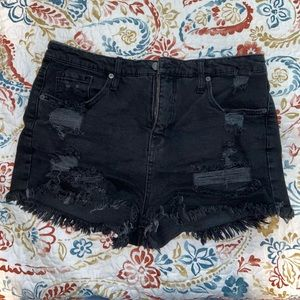 Mossimo Supply Co black ripped high rise shorts